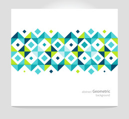 Modern Geometric Abstract background blue & green squares. minimalistic design creative concept