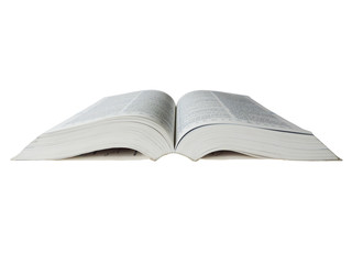 Advanced English dictionary, isolated on White