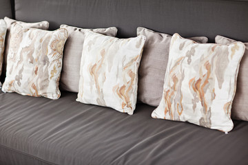 Decorative pillow natural Fabric. Balinese style