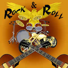 raster version rock and roll drum kit with bike
