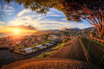 Sunset over Funchal (Madeira) Fototapete