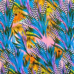 texture of print fabric striped feather