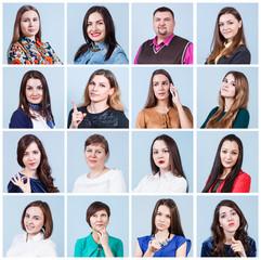 People portrait collage
