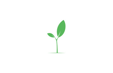 green plant eco logo