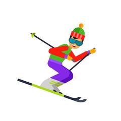 Funny skier icon