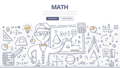 Math Doodle Concept