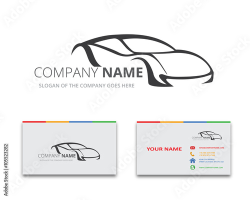 car logo vector business card stock image and royalty free vector