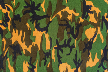 texture of military camouflage fabric