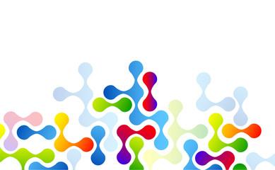molecole, incastro, puzzle, astratto