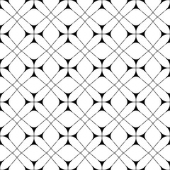 Star and square seamless pattern. Fashion graphic background design. Modern geometric stylish abstract texture. Monochrome template 4 prints, textiles, wrapping, wallpaper, website VECTOR illustration