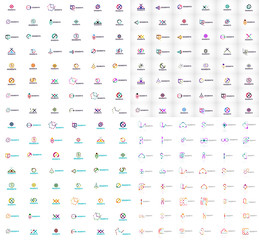 Huge mega collection of abstract logos