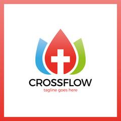 Flower Cross Logo - Church