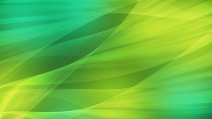 Abstract background art design smooth wave and green light