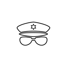 security set police line icon