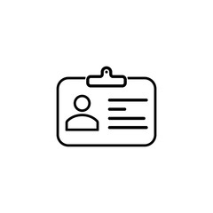 security set id card line icon