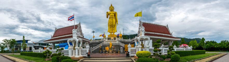 A golden buddha figure at Hatyai  Panorama picture