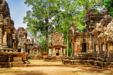 Wall Mural - Ancient buildings of Thommanon temple in Angkor, Cambodia