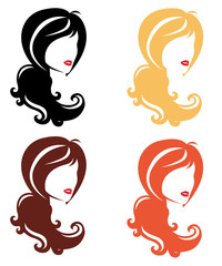 Vector icon set. Hair and face beauty.