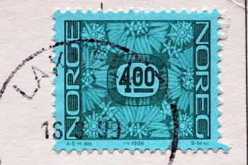 Norwegische Briefmarke gestempelt