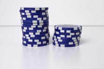 Pokerchips gestapelt (blau)