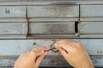 two hand for repari the door