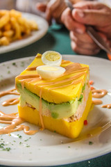 avocado omelette - hand