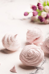 Delicious meringue on the light table
