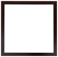 The wooden black frame isolated on the white background.