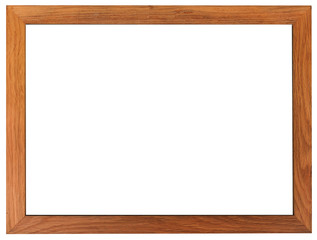 Classic frame. Slim and smooth wooden picture frame.