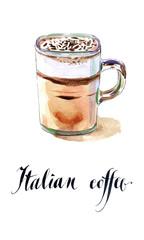 Glass of Italian coffee