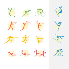 Summer Olympic games  icon set