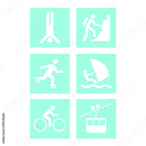 Different Kinds Of Sports Symbols For Competition Stock Image And