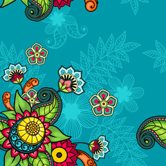 Seamless floral bright colors