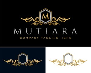 Elegant Gold Crest Frame Logo v.2