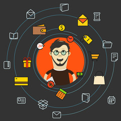 Modern web shopping concept