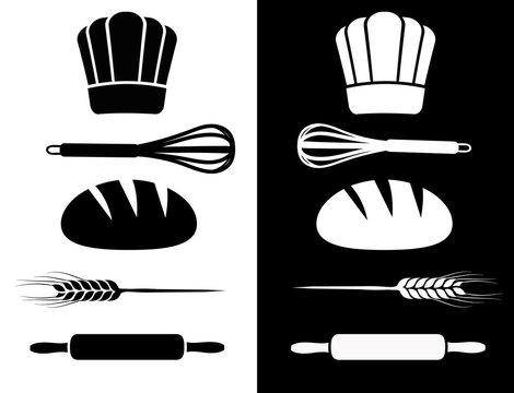 Symbole kochen backen