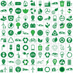 100 ecology green recycle set