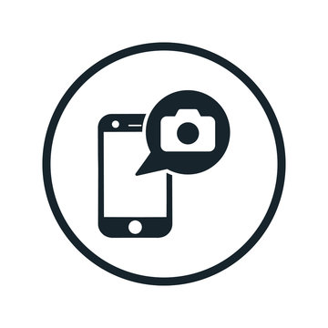 photo on the phone icon