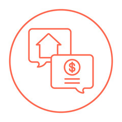 Real estate transaction line icon.