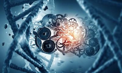 DNA molecule and cogwheel engine
