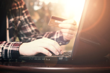 online card pay hand sunlight