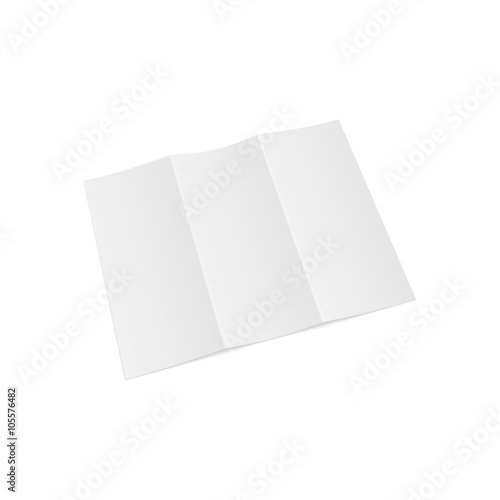 trifold opened paper letter template