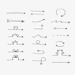 Hand drawn vector arrow collection