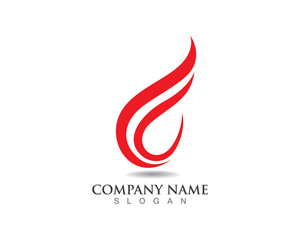 F fire logo red