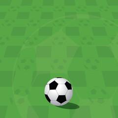 Football Ball On Green Field.