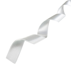 Curled ribbon, isolated on white