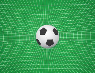 Football / Soccer Ball In Net. Vector Illustration