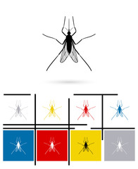 Mosquito icon or mosquito sign. Vector mosquito pictogram or mosquito symbol
