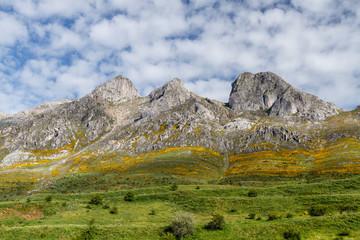 Paisaje del Macizo Las Tres Marías. Casares de Arbas. Montaña Central Leonesa, España.