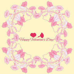 Background with pink bindweed
